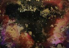 "CELESTIAL GALAXY Alcohol Ink ACEO Yupo Painting 2.5""x3.5"" Julia Garcia Art NEW"