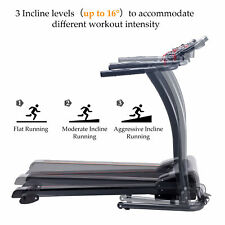 Home Gym Treadmill Foldable Electric Motorized Power Running Fitness Machine.