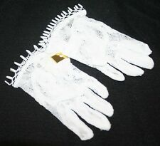 Girl's White Lace Gloves, Kids Wedding Accessories, Flower girl Gloves