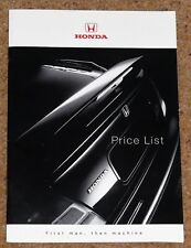 1998 HONDA RANGE PRICE LIST - Integra Type R NSX Civic Prelude Accord Legend CRV