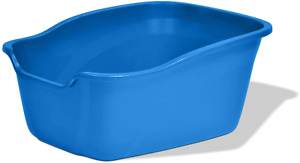 Large Cat Litter Box High Sided Big Kitty Blue Odor Resistant Free Shipping