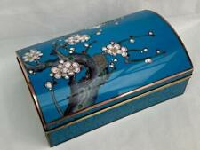 Very Fine Signed 20th Century Japanese Kyoto Cloisonné Enamel Decorated Box.