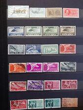 M702. ITALIE. 4 pages timbres oblitérés