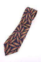 red blue yellow geometric POLO RALPH LAUREN necktie tie SILK hand made