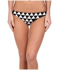 SEAFOLLY COSTA MAYA HIPSTER BIKINI SWIM PANT BOTTOM BLACK WHITE SIZE 6 NEW!! $72