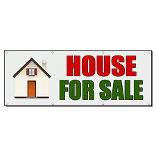 HOUSE FOR SALE REAL ESTATE Banner Sign 4 ft x 2 ft /w 4 Grommets