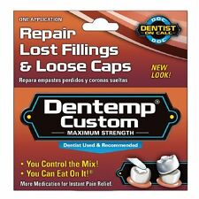 Dentemp Temporary Cavity Filling Mix Repair Lost Fillings Loose Caps - 1 App