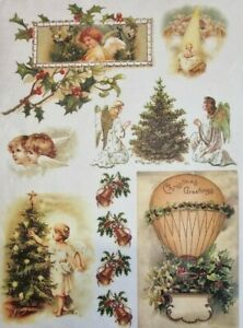 Rice Paper for Decoupage Scrapbook Craft Christmas Decorations 190
