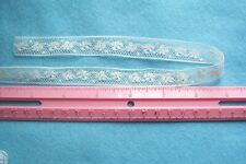 Vtg Cotton Valenciennes Insertion lace trim For Dolls Crafts Sewing 2 yards