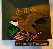Shelia's Usa07 Enduring Freedom The Spirit of America Wood Plaque 9/11 Wtc