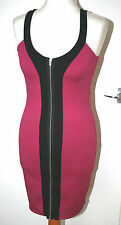 MARKS & SPENCER LIMITED COLLECTION UK12 EU40 CERISE STRETCH BODYCON DRESS UNWORN