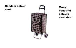 Strong Wheelie Shopping Trolley Festival Essential Folding Durable 2 Wheeled Bag