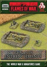 Flames of War Bb118: Gun Pits Entrenchments x1 - New / Sealed