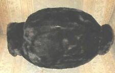Antique Victorian Real Black Fur Muff