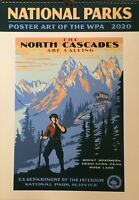 "2020 WPA National Parks Wall Calendar Poster Art of The WPA 19"" x 13.5"""