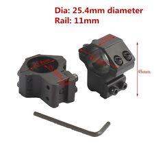 "Scope Mount Rings 25.4mm 1"" Ring 11mm Rail Dovetail Mount fit Laser Light"