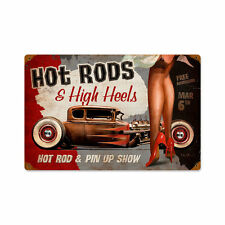 Hot Conseil rods and talons hauts pin up type vintage retro sign tôle bouclier bouclier NEUF