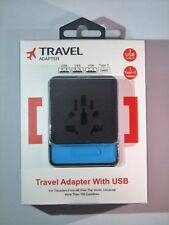 travel Adaptor/fastcharger universal UK/US/EU worldwide plug 3USB TypeC Multipin