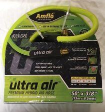 "Amflo PVC/Rubber Blend Air Hose 3/8"" x 50', 1/4"" NPT, M"