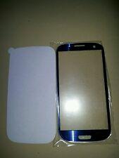 Vetrino Samsung Galaxy S3 GT-i9300 compatibile con i9301 S3 neo BLU + BIADESIVO