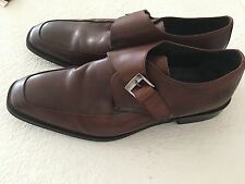 ASTON GREY COLLECTION BROWN GENUINE LEATHER MEN'S FORMAL DRESS SHOES SIZE 13M