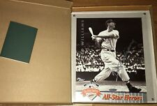 Ted Williams signed Boston Red Sox 1992 All-Star Game UDA 8x11 photo card #/521