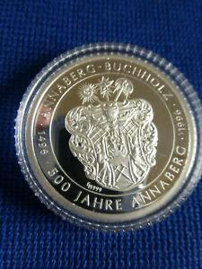 """Medaille """"500 Jahre Annaberg-Buchholz"""" 1496 - 1996; Silber - polierte Platte"""