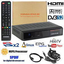 Genuine HD zgemma Caja Doble Sintonizador Receptor de satélite 2S DVB UK Libre Al Aire Nuevo