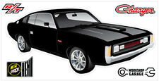New! Collectable Chrysler VH Valiant Charger R/T - BLACK WITH CHROME WHEELS