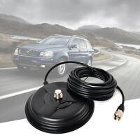 SO-239 6.1in Magnetic Magnet Mount 5M Cable RG58 for VHF UHF Car Mobile Antenna
