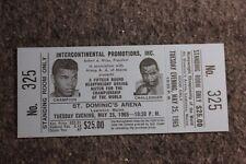 Vintage May 1965 Ali vs. Liston Full Ticket Boxing Heavyweight Championship Blue