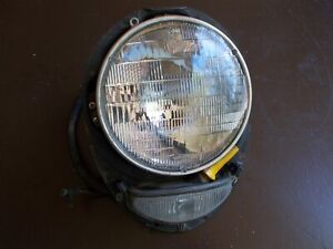 1952 Studebaker Headlight Assembly AUTOLITE W/Clear Park Lens 6 Volt