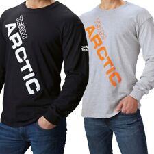 Arctic Cat Men's Team Long Sleeve Breathable Durable Cotton Shirt - Black Gray