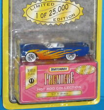 1995 MATCHBOX Premiere 57 Ford Thunderbird T-Bird Blue Real Riders 1/25,000 1957