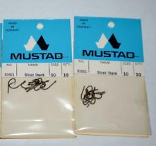 2 Packs New Mustad 92661 Baitholder Fish Hooks  Size10 Bronze