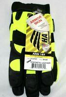 Hawk 2137HY Armor Skin Mechanics Gloves, Black/Yellow Size: Small  Free Shipping