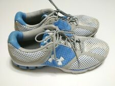 Under Armour Women's Blue Gray Running Mesh Sneakers Ladies Size 10