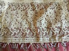 20MM Ivory Embroidered Flowers Shell Edge Net Lace Trims 5 Yards T028