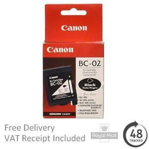 Genuine Canon BC-02 Black Ink Cartridge 0881A002