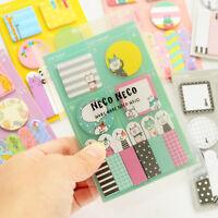 Süße Haftnotizen Klebezettel Marker Inhalt Sticky Notes Memo Index best G4U9