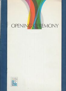 Orig.PRG   Olympic Winter Games LAKE PLACID 1980 - OPENING CEREMONY  !!  RARITY