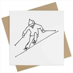 'Skiing' Greeting Cards (GC026541)