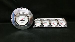 1949 1950 FORD CAR GAUGE CLUSTER WHITE