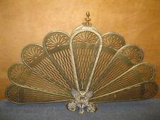 Brass & Bronze Folding Gargoyle Fan FIREPLACE SCREEN Mantle Fire Guard