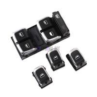 x4 Chrome Window Control Switch Set For Audi A4 S4 B8 Quattro Allroad Q5 A5