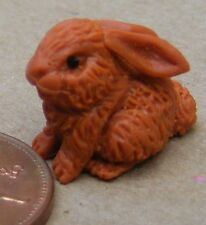 1:12 Scale A Brown Polymer Clay Rabbit Tumdee Dolls House Miniature Accessory B
