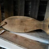 Großer Fisch Maritim Holz 40cm Holzfisch Seil Tischdekoration Vintage zum Hängen