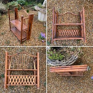 🌟Vintage Antique Chinoiserie Faux Bamboo Folding Desk Top Wall Shelves
