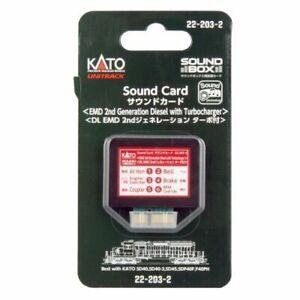 Kato Sound Card ~ New 2021 ~ EMD 2nd Generation Diesel w/ Turbocharger ~22-203-2