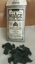 ANTIQUE NUACE PHOTO MOUNTING CORNERS-BLACK-NOS